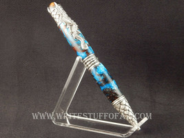 Dragon Themed Twist Pen, Magenta w/Pewter Fittings - $54.99
