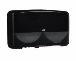 Tork 5555290 Elevation Twin Mini Jumbo Bath Tissue Roll Dispenser Black - $27.99