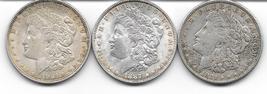 Nice group of three Morgan Dollars from 1921P,1921D&1887. - $84.00