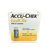 Accu-Chek Fast Clix 100+2 Lancets, Blood Glucose Testing Diabetes Accuch... - $16.82