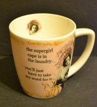 """SuperGirl Coffee Mug Erin Smith Art Enesco """"the cape is in the laundry..."""" - $12.09"""