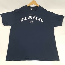 Vintage 90s Property of NASA Adult Size XL Blue Tee T-Shirt  Delta Pro Weight - $27.84