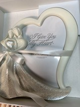 ENESCO I Give You My Heart Wedding Picture Frame 5 x 7 Bride & Groom Hea... - $27.97