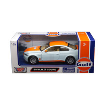 BMW M3 Coupe with \Gulf\ Livery Light Blue with Orange Stripe 1/24 Dieca... - $30.06