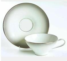 Flat Cup & Saucer Set Elegance (Platinum Trim) by ROSENTHAL - CONTINENTAL - $10.39