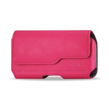 Pink Leather Magnetic Case fits CAT S61 with any cover on it - $12.86