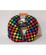 New, Yakpak Microbead Colorful Checkered Travel Neck Pillow - $17.88