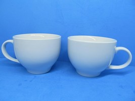 """Pottery Barn Great White 3 7/8"""" High X 5"""" Wide Jumbo Cups Set Of 2 Cups ... - $28.42"""