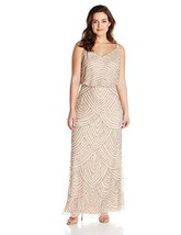 Adrianna Papell Women's Plus-Size Long Beaded Gown - $186.14+