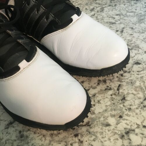 NIKE MENS Golf WHITE BLACK LEATHER 8 image 3