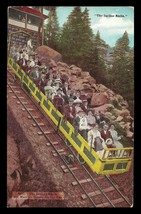 Mt Maniton Incline Railroad Postcard Colorado Scenic Incline Car Smile C... - $16.50