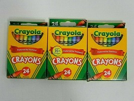 3 Boxes Crayola Crayons Classic 24 Colors Non Toxic USA Made New #52-3024 - $4.24