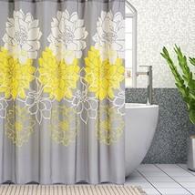 Wimaha Peony Flower Fabric Shower Curtain Mildew Resistant Waterproof St... - $18.20
