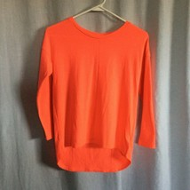 Old Navy Girls Hi Lo Light Weight Sweater Size L 10/12 Neon Orange - $2.97