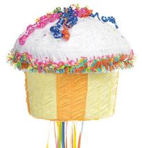 YELLOW Cupcake Pull String Pinata - $14.49