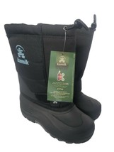 Kamik Winter Boots Black P7725 Sz 6 - $59.39