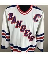 Vintage New York Rangers Mark Messier Jersey CCM Cosby NHL Hockey 90s Au... - $110.00