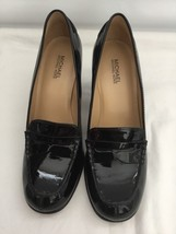 Michael Kors Black High Heel Pump Patent Leather Shoes Size 6.5M (PRE-OWNED) - $34.99