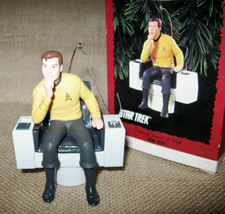 Vintage Star Trek Captain Kirk Ornament & Films in Review - The Motion P... - $29.99