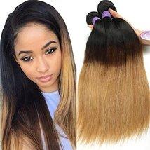 Cranberry Hair Ombre Brazilian Virgin Hair Straight Hair Weave 24inch Bundle Thr image 3