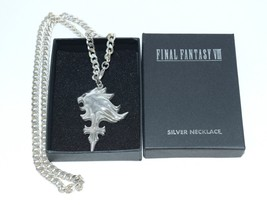 Final Fantasy VIII FF 8 Sleeping Lion Heart Silver 925 Necklace Square YA37 - $632.61