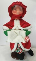 "32"" Annalee Mrs Claus Caroler With Mouse, 1997 - $95.00"