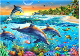 Dolphins Jigsaw Puzzles 1000 Piece Puzzles Jigsaw Puzzle - $24.95