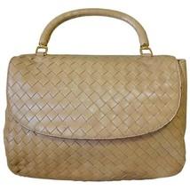 Vintage Bottega Veneta beige intrecciato woven leather handbag. Best classic and - $312.00