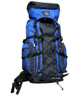 ROYAL BLUE Extra Large Backpack Camping 4300 CI Hiking Pack Hunting Scou... - $48.49