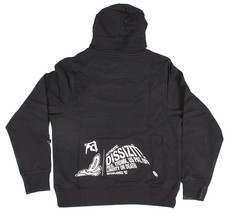 Dissizit Mens Black White FYSP F*ck Your Skate Park Pullover Hoodie Sweater NWT image 2