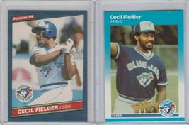 1986 Donruss 1987 Fleer Update Cecil Fielder Lot Blue Jays - $1.25