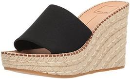 Dolce Vita Women's PIM Espadrille Wedge Sandal, Black Elastic, 10 M US - $43.99