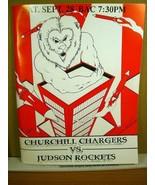 Program Book Chrurchill vs Judson Rockets September 28 1996 - $11.69