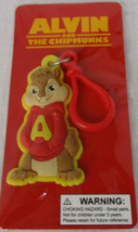 ALVIN AND THE CHIPMUNKS 20th CENTURY FOX BENDABLE RUBBER KEYCHAIN 2011 N... - $5.00