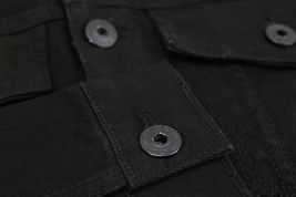 Men's Classic Distressed Casual Button Up Stretch Jean Trucker Denim Jacket image 10