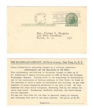 Advertising Postal Card UX27 Macmillan Publ New York No Date Slug Slogan... - $4.99