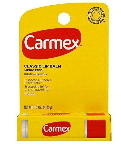 Carmex Classic Lip Balm  Soothes Chapped SPF 15 Medicated