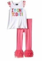 Mud Pie Toddler Girls I'm One Today Birthday Outfit size 12-18 Months NWT - $12.86