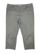 Ann Taylor LOFT Women Size 12 (Meas 35 x 22.5) Gray Dot Capri Pants - $16.20