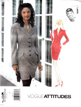Vogue Byron Lars Dress Attitudes Button Front Above Knee Sew Pattern 150... - $37.49