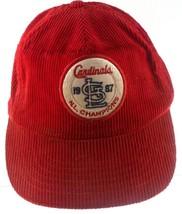 St Louis Cardinals 1987 NL Champions MLB Baseball Corduroy Red Snapback Hat - $9.89