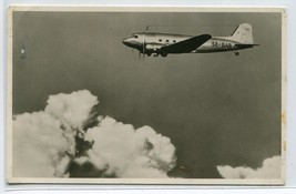 Swedish Air Lines Airlines Douglas DC 3 1947 RPPC Real Photo postcard - $7.43