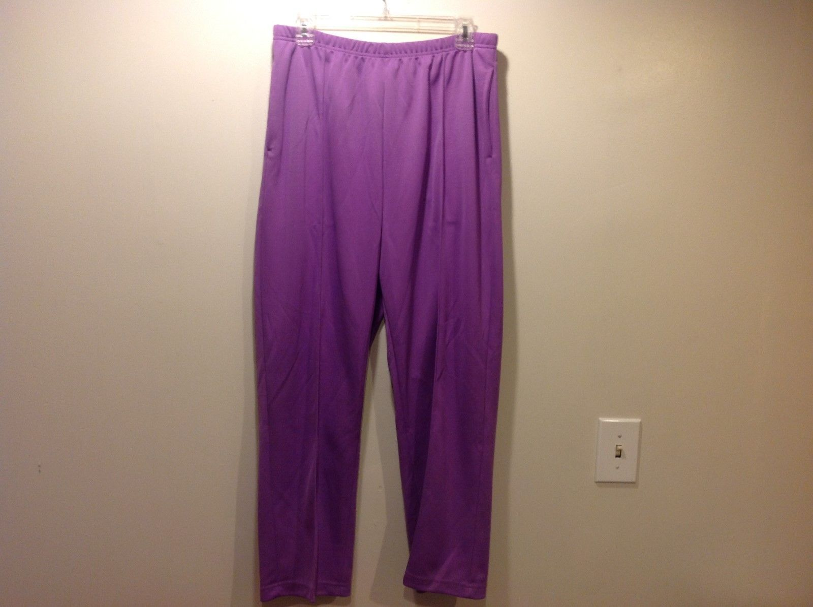 Ladies Lavender Colored Pants w Elastic Waist by Sara Morgan Sz 16P