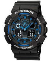 Casio G-Shock Analog-Digital Blue Dial Men's Watch - GA-100-1A2DR (G271) - $160.40