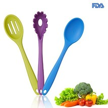 Silicone Kitchen Utensil Tool Set 3 Pieces Includes 1 Premium Silicone Soup - $13.03