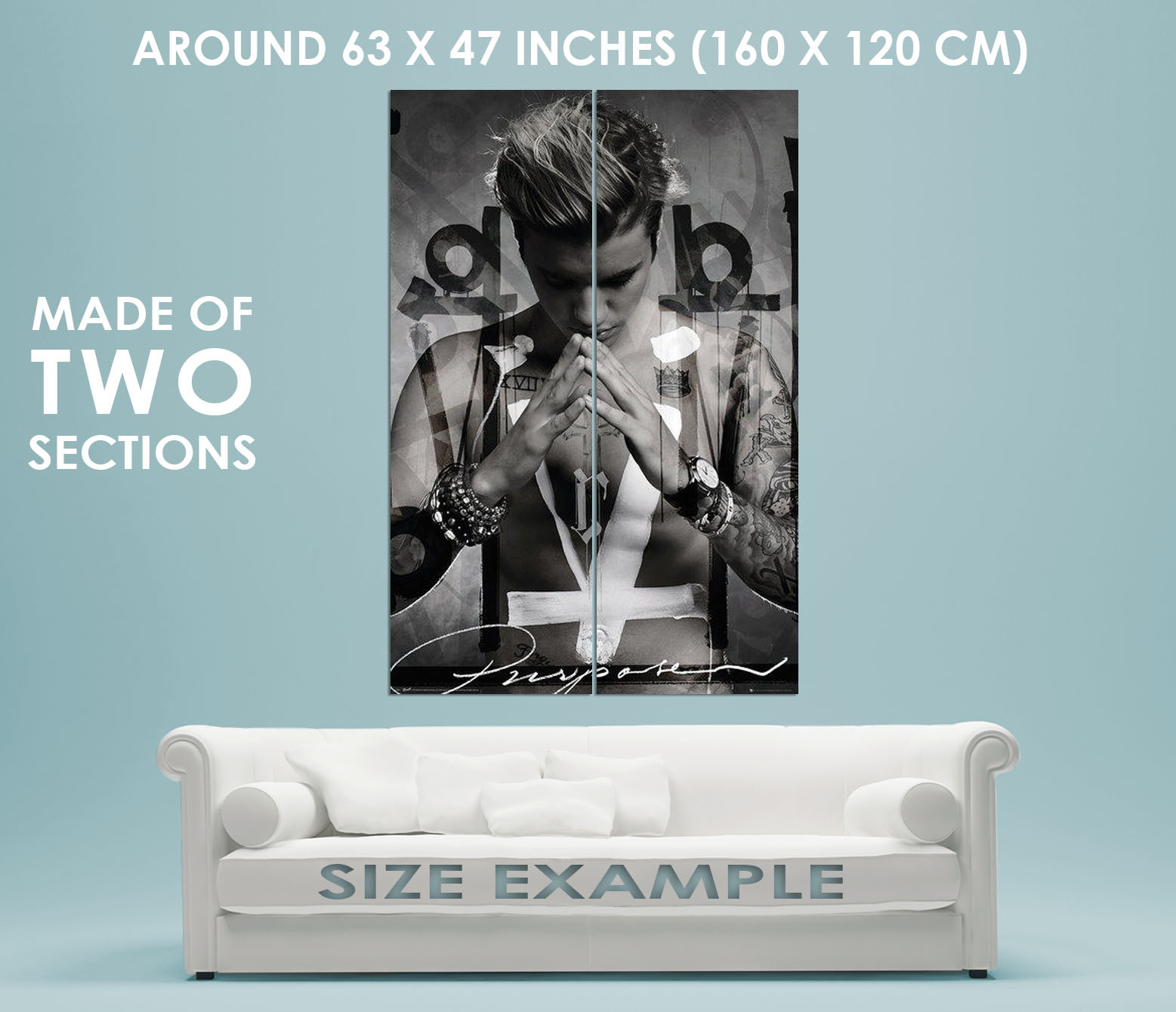 90573 JUSTIN BIEBER PERSONALITY MUSIC PURPOSE TOPLESS Decor Wall Print POSTER