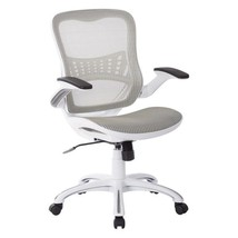 Riley White Mesh Seat Office Chair with and Back - $293.24