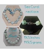 Blue 20 MM Sea Coral Gemstone Necklace - New! - $45.00