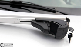 Silver Fit For MITSUBISHI Pajero TR4 5D Top Roof Rack Cross Bars 2006-2009 - $111.27