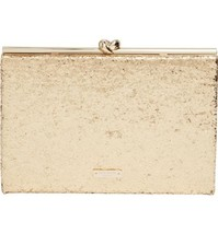 Kate Spade Wedding Belles Glitter Knot Clutch G... - $267.29
